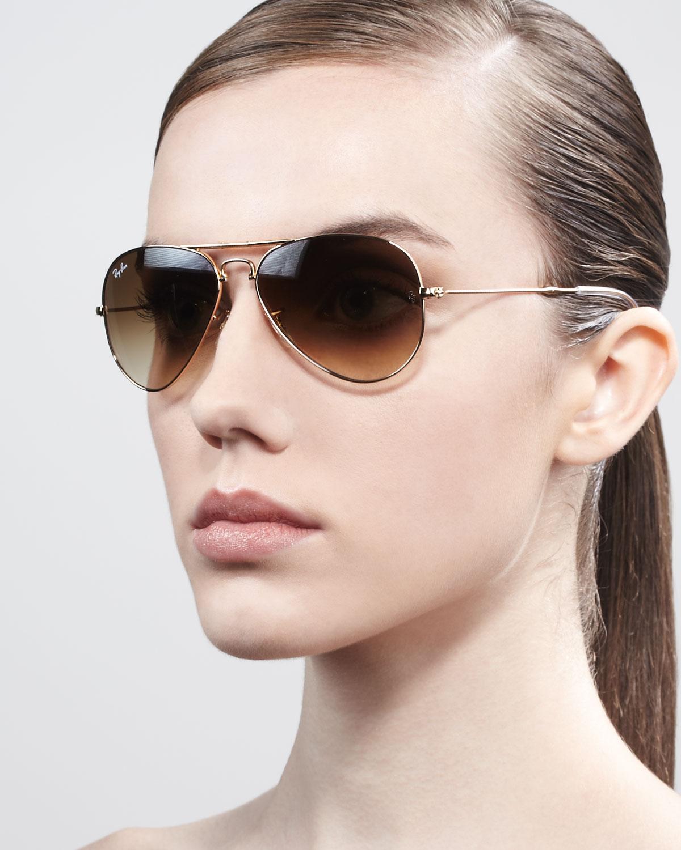 5fa1e63d7b7 ... czech lyst ray ban foldable aviator sunglasses in brown d5e08 02be0