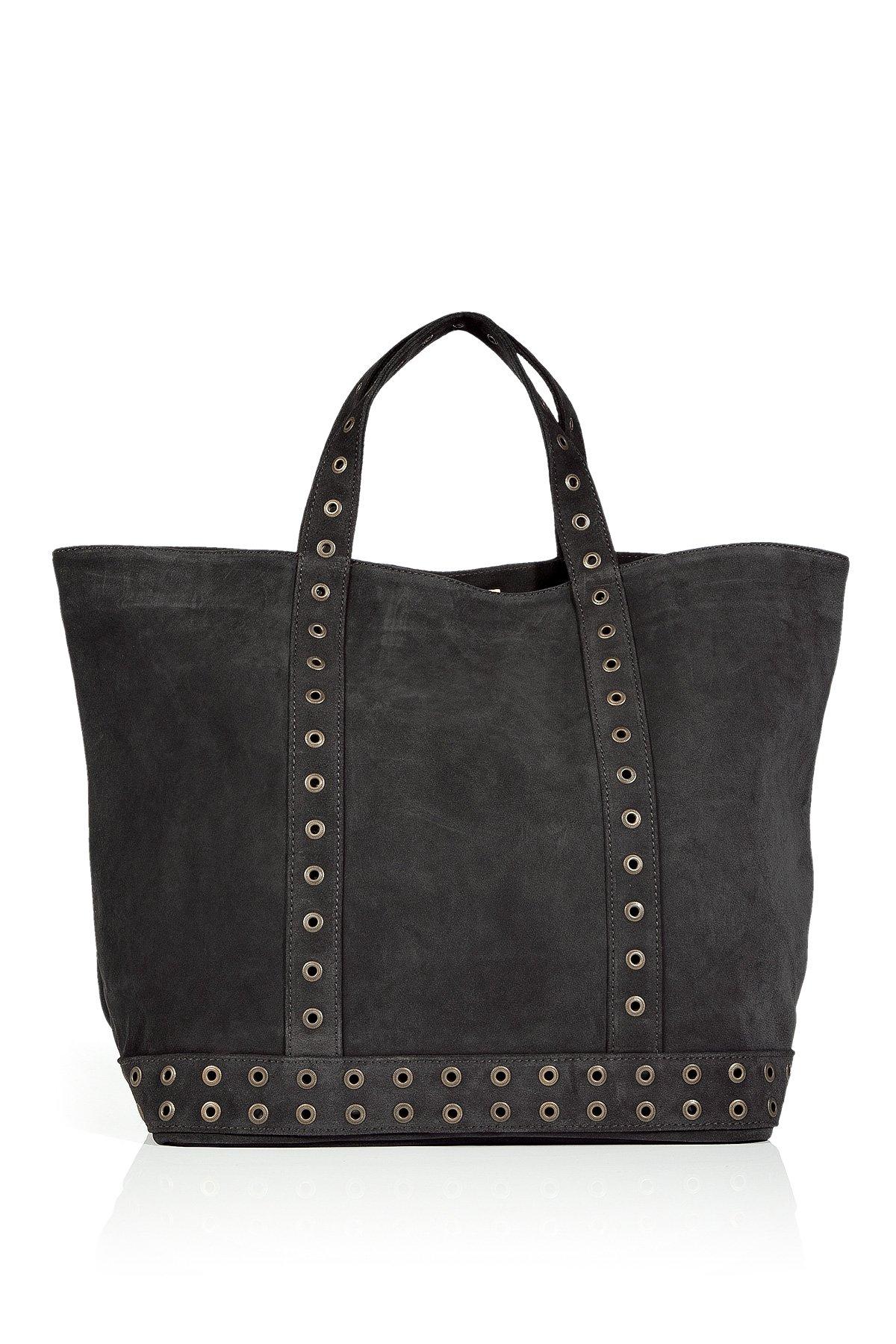 vanessa bruno zinc studded suede big cabas bag in black lyst. Black Bedroom Furniture Sets. Home Design Ideas