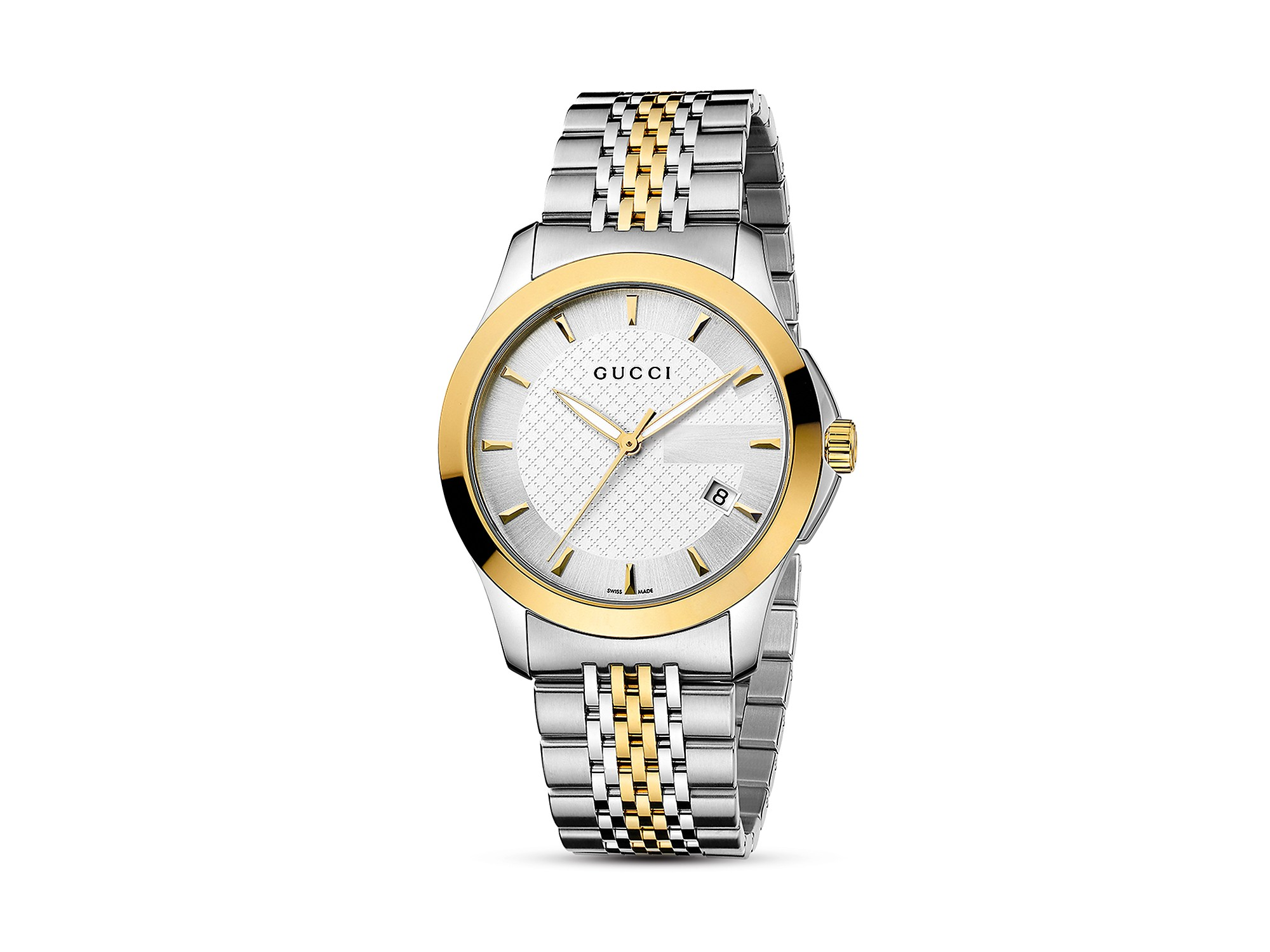 af7e953456d Gucci Ya126513 Women s G-timeless Mother Of Pearl Diamond Two Tone ...