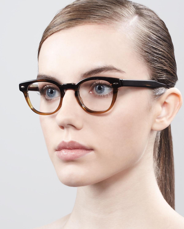 Oliver Peoples Sheldrake Fashion Glasses In Black Lyst