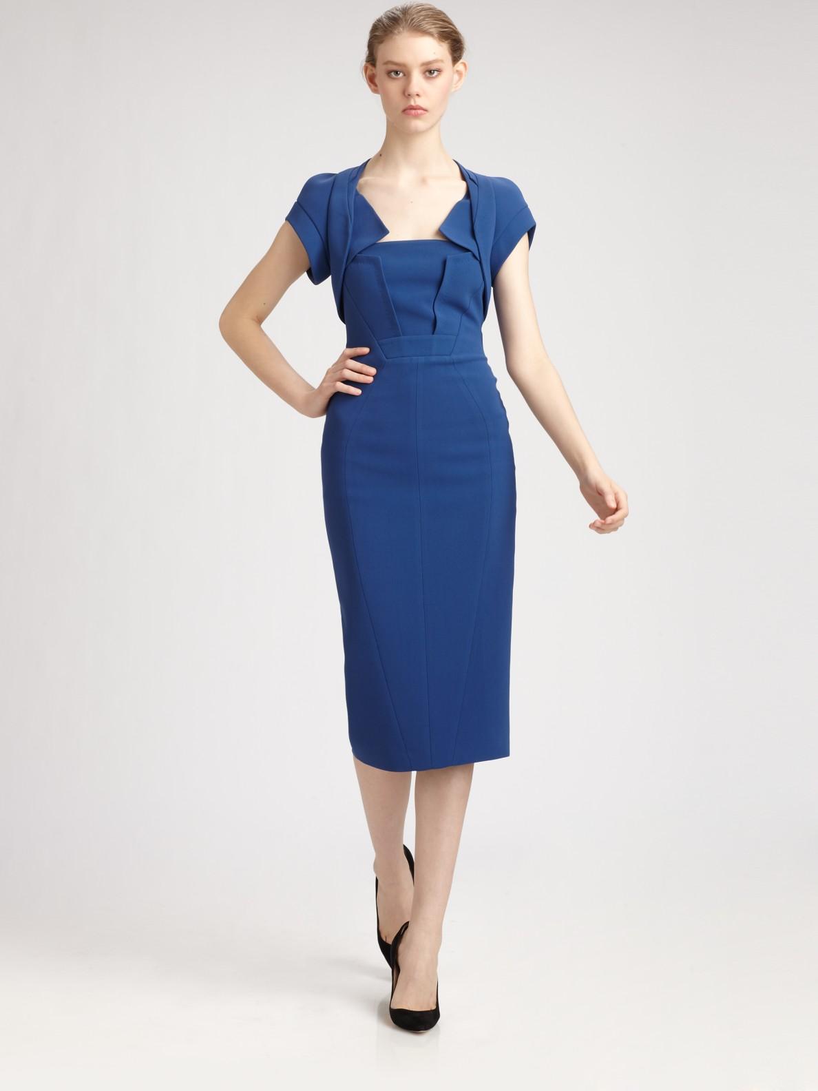 Lyst Antonio Berardi Cady Dress In Blue