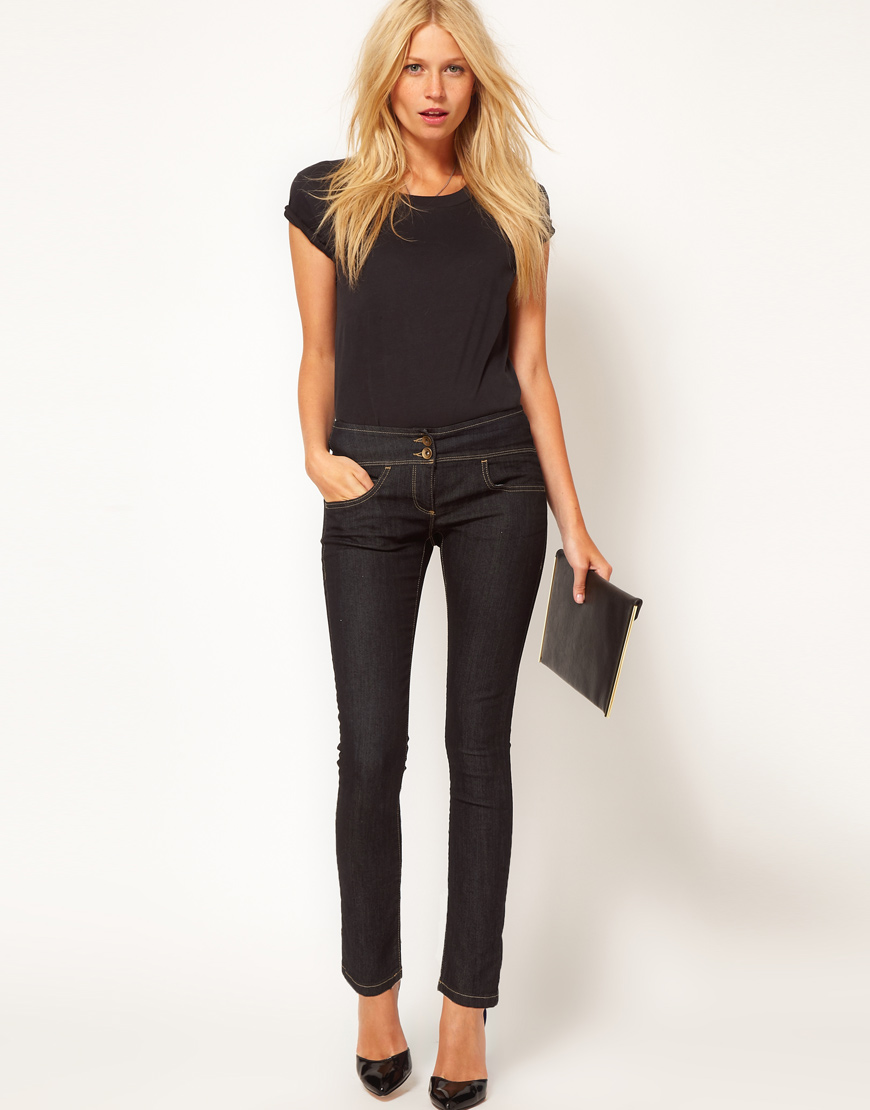 Asos Super Sexy Skinny Jeans In Navy Blue - Lyst-3230