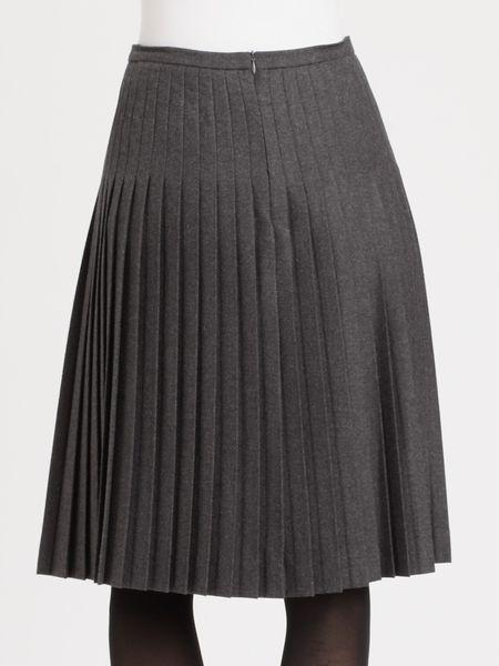fendi pleated skirt in gray grey lyst