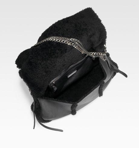 Jimmy Choo Biker Large Shearling Shoulder Bag 65
