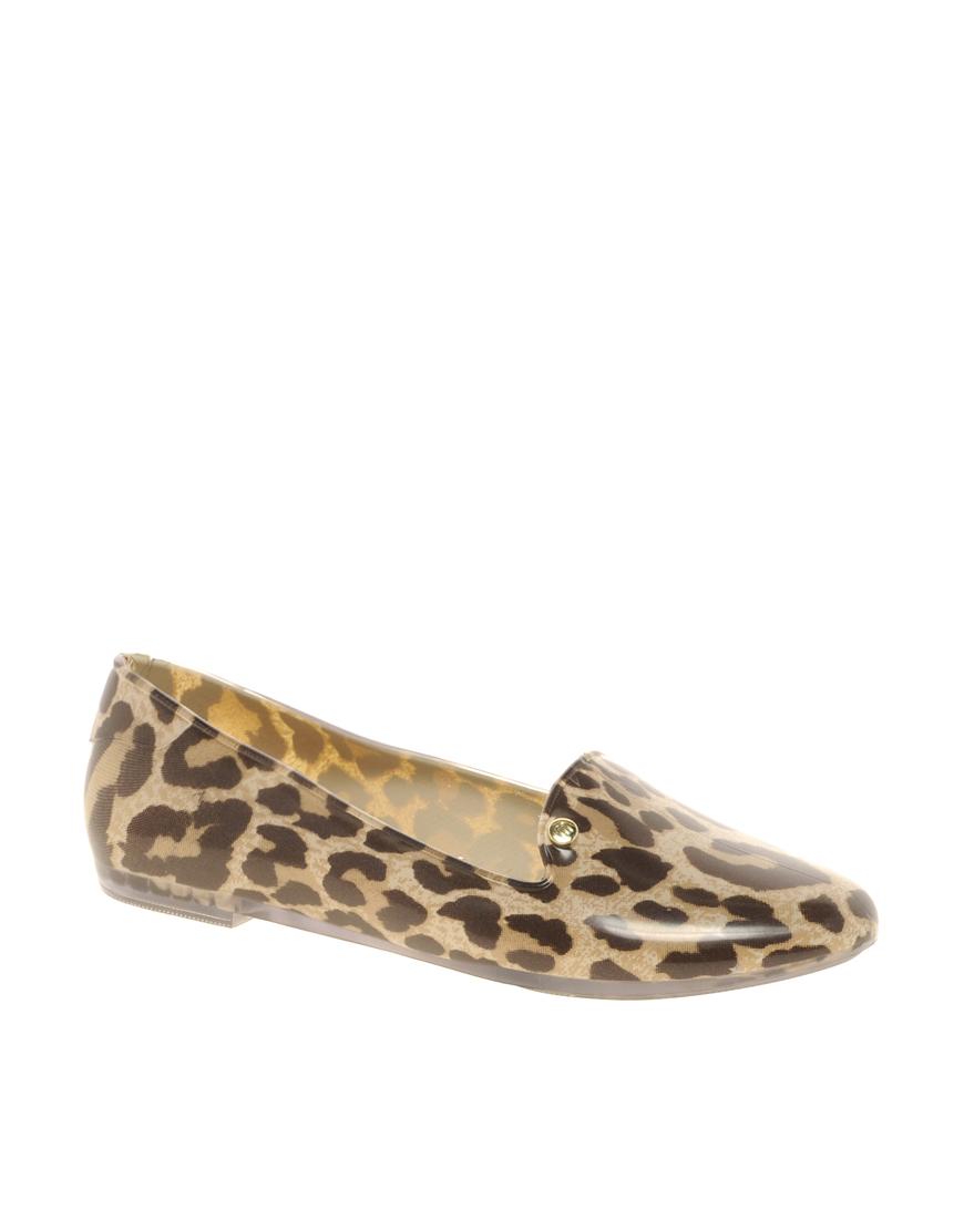 e70a6c227ed Lyst - Melissa Virtue Leopard Slipper Shoes