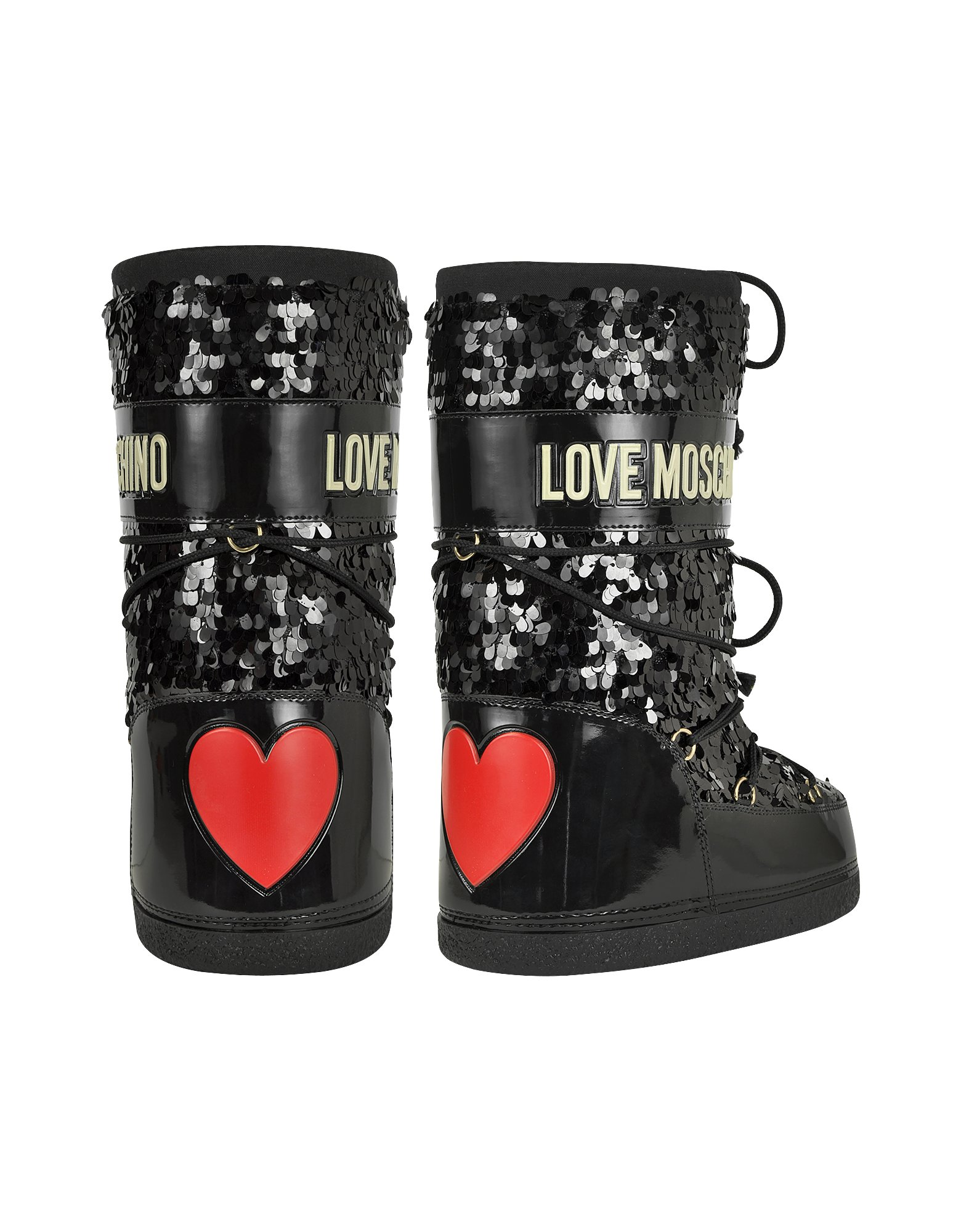 drop shipping good reputation buy best Moschino Love Moschino Black Sequins Boots - Lyst