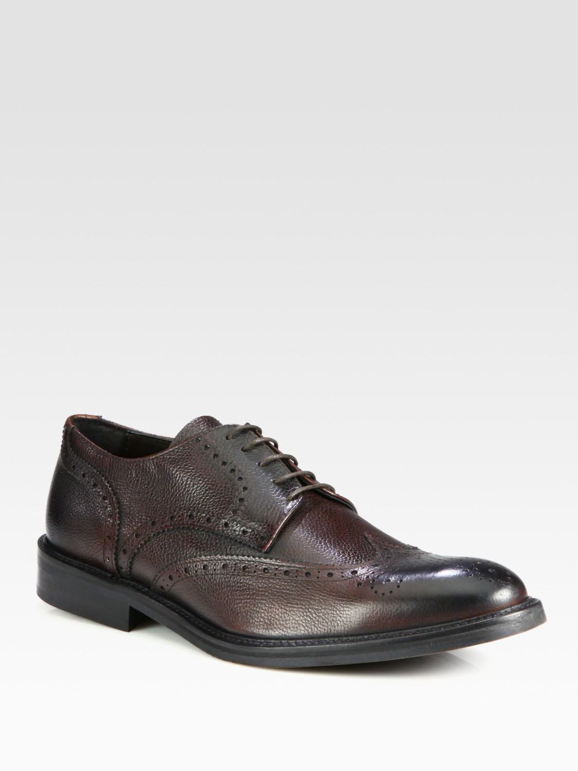 to boot jayson leather wingtip derby shoes in brown for