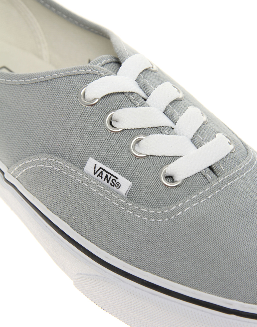 1b211d3020 Lyst - Vans Authentic Classic Grey White Lace Up Trainers in Gray