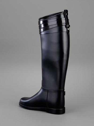 Burberry Brit Wellington Boots in Black
