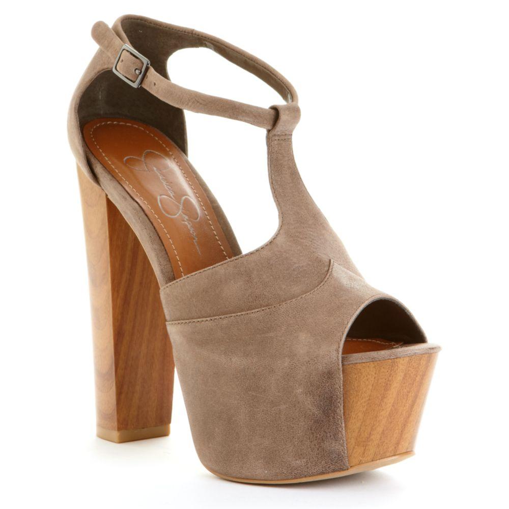 Lyst Jessica Simpson Dany Platform Sandals In Brown