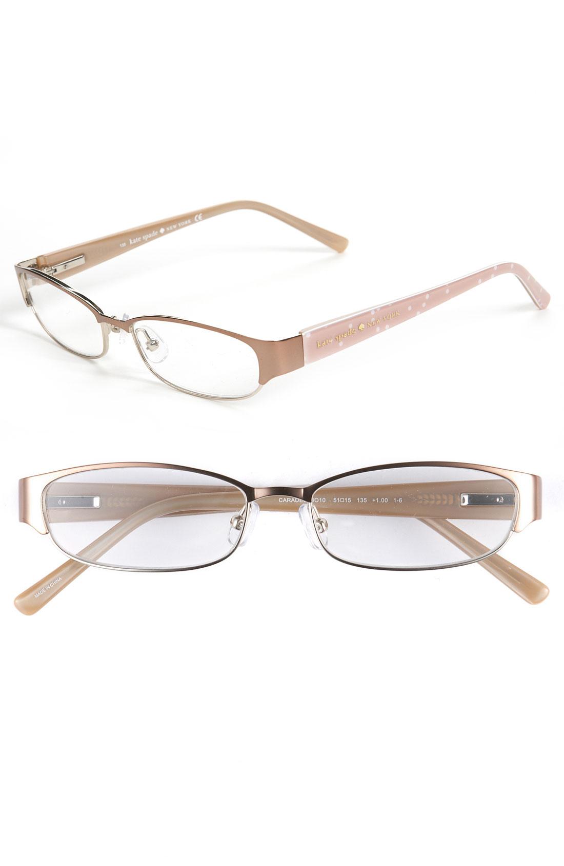Kate Spade Eyeglass Frames 2012 : Kate Spade Caradee Reading Glasses in Beige (brown/ gold ...