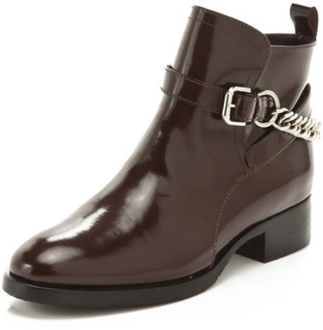 Mcq By Alexander Mcqueen Paddock Boots in Brown (oxblood)