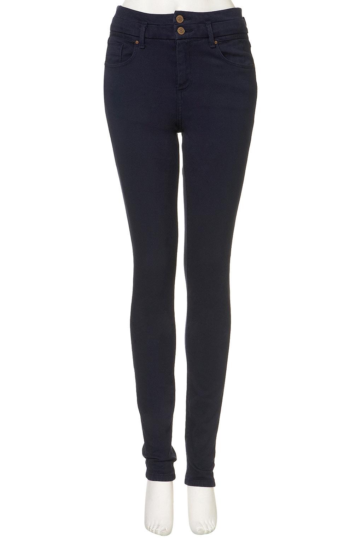 TOPSHOP Moto Indigo Kristen High Waist Jeans in Indigo Denim (Blue)
