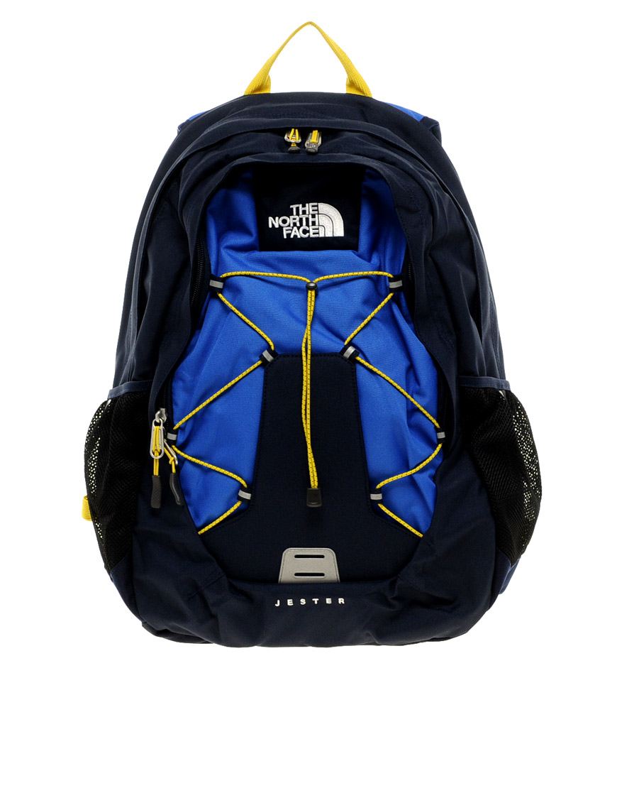 The North Face Jester Backpack In Blue Black For Men Lyst