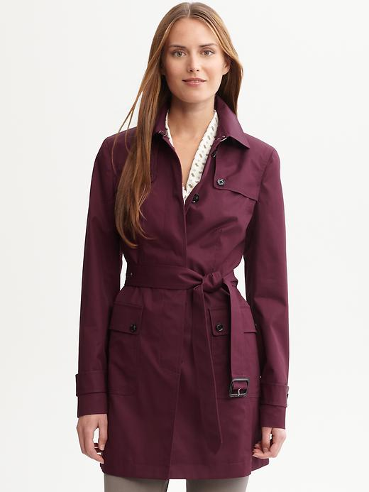 Banana Republic Belted Cotton Trench In Purple Lyst