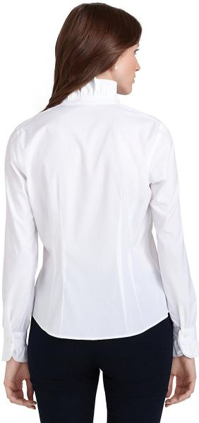 Brooks Brothers White Blouse 36