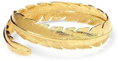 Cc Skye Feather Bangle in Gold