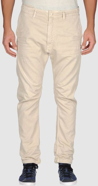 Diesel Denim Trousers in Beige for Men