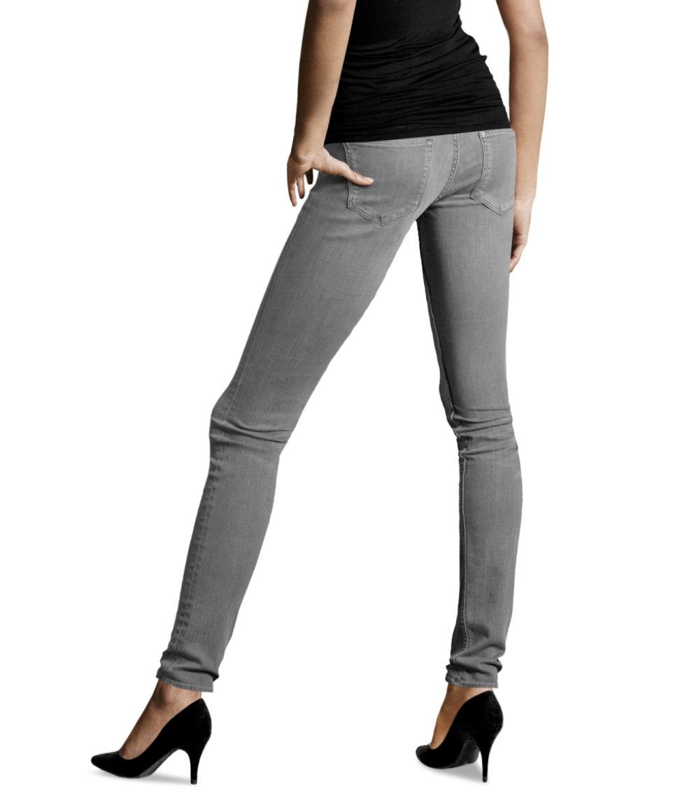 h m super skinny super low jeans in gray lyst. Black Bedroom Furniture Sets. Home Design Ideas