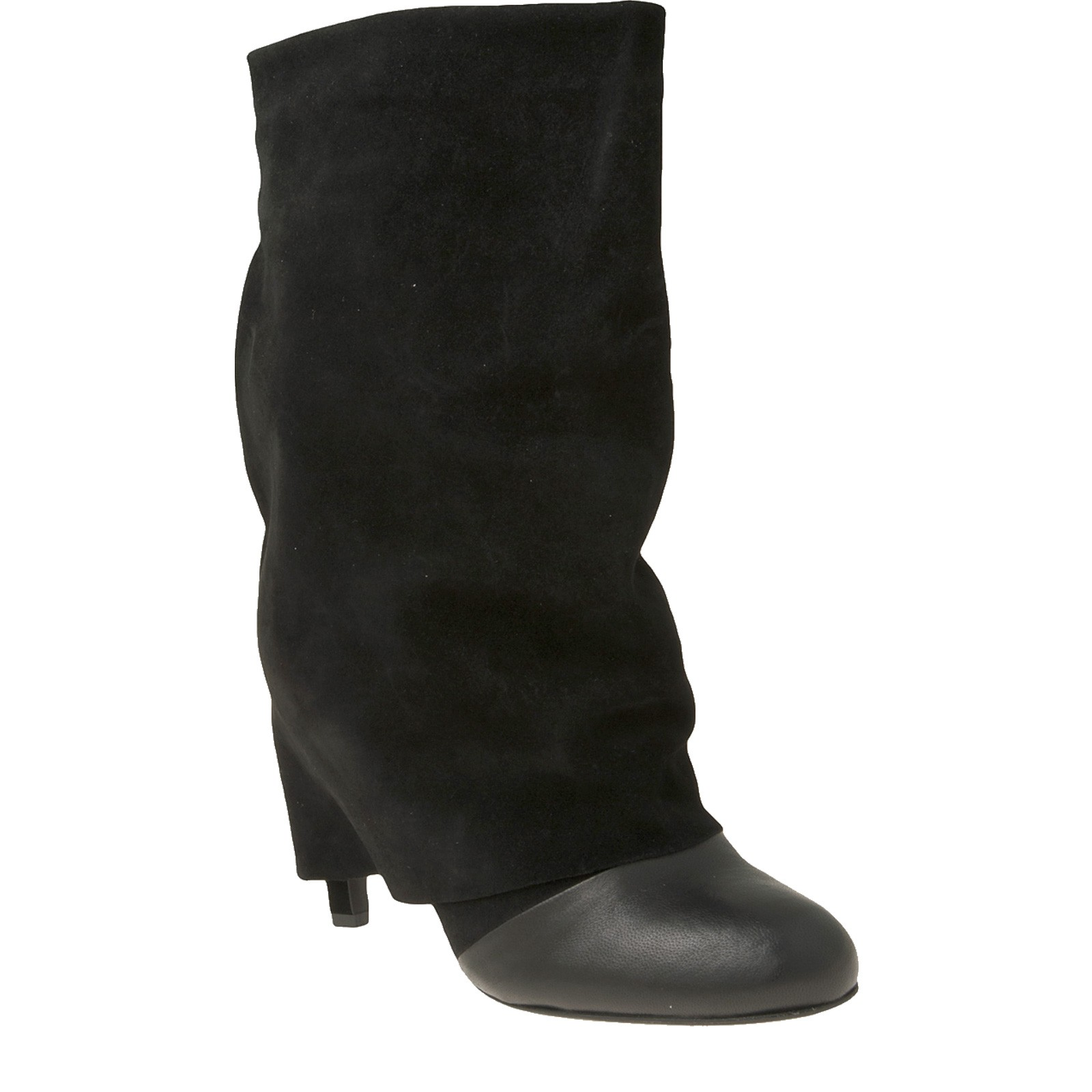 see by chlo 233 fold heel boot in black lyst