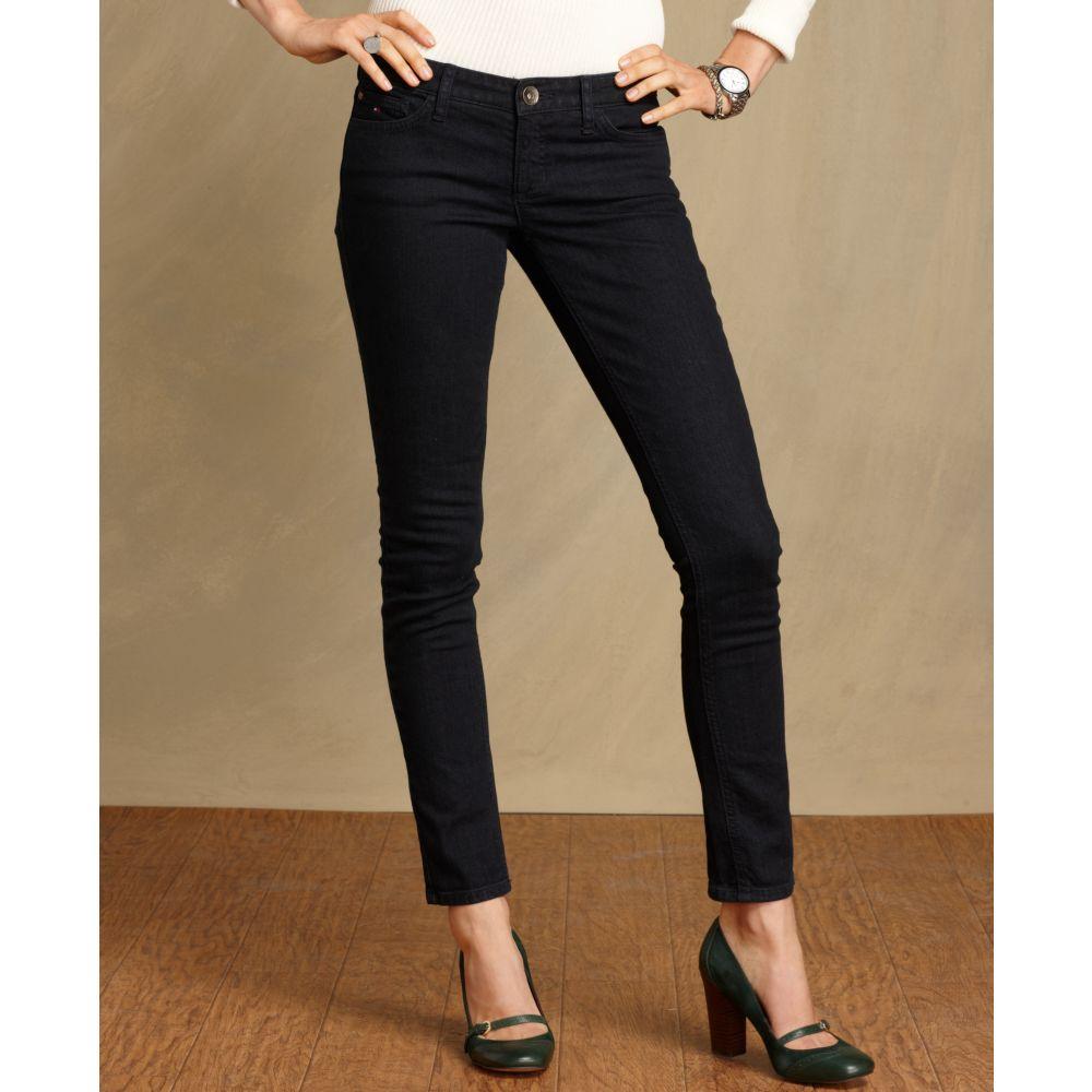 tommy hilfiger jeans modern skinny overdye rinse wash in. Black Bedroom Furniture Sets. Home Design Ideas