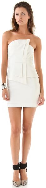 Black Halo Vamp Strapless Dress in White - Lyst