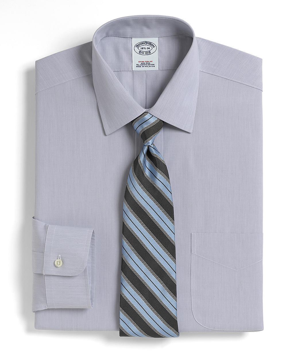 Brooks brothers supima cotton noniron extraslim fit for Supima cotton dress shirts