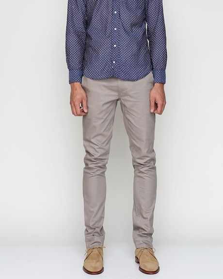 Cheap Monday Slim Chino in Grey Brown in Gray for Men (grey)