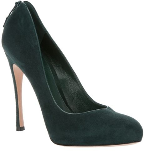 Gianvito Rossi Pointed Pump in Green