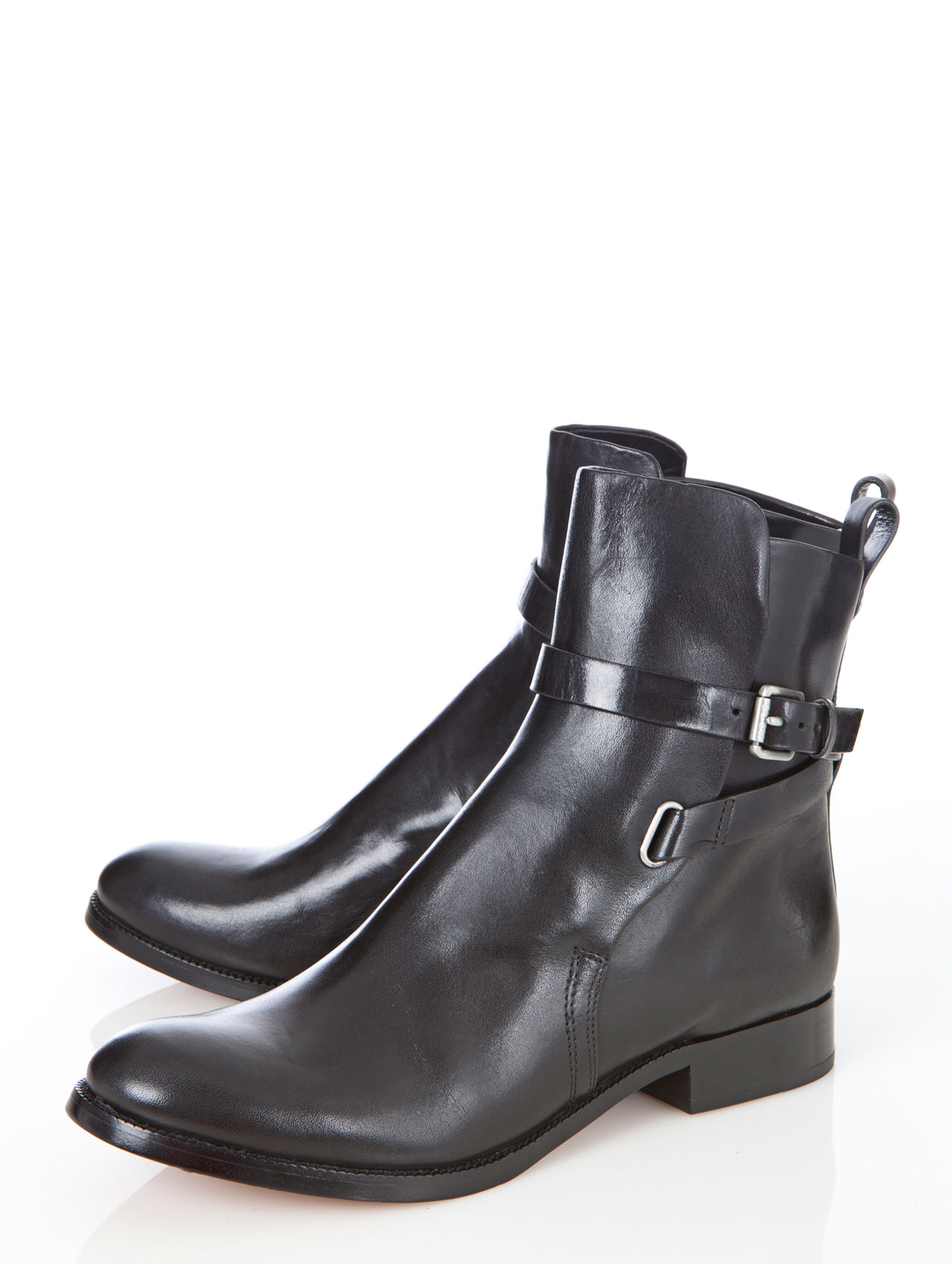 kors by michael kors adele leather boots in black lyst