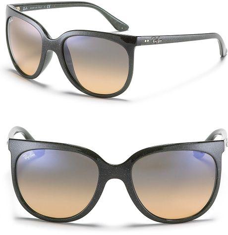 Ray-ban Glitter Frame Cat Eye Sunglasses in Green (green ...