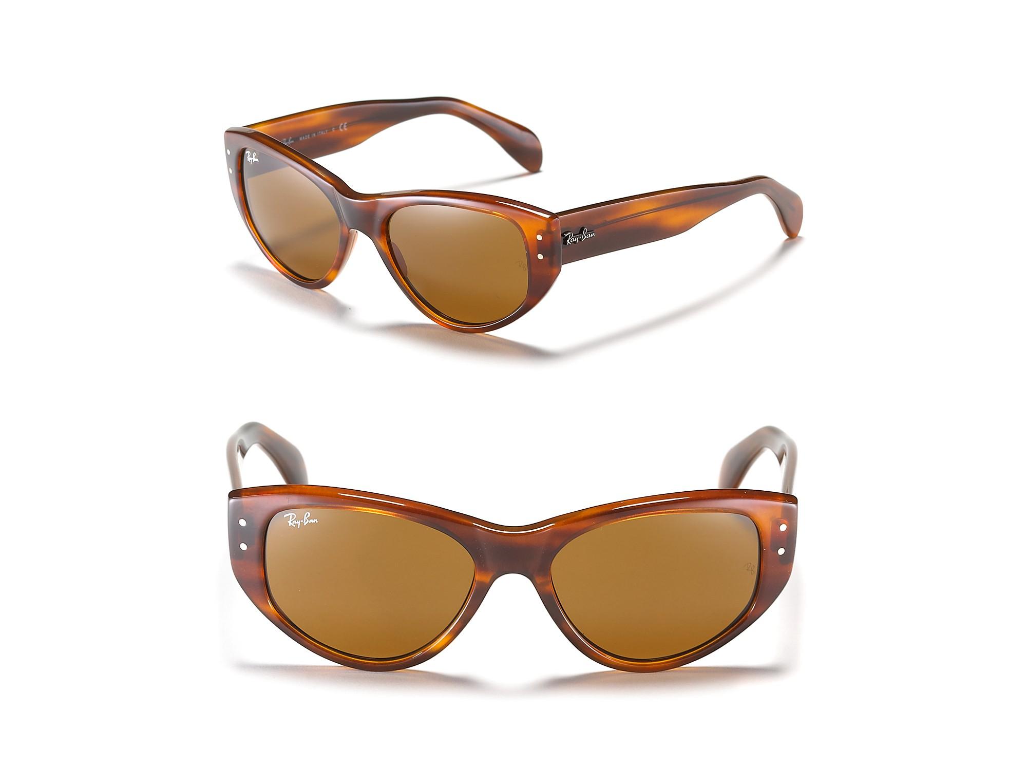 ray ban vagabond cat eye sunglasses in brown havana lyst. Black Bedroom Furniture Sets. Home Design Ideas