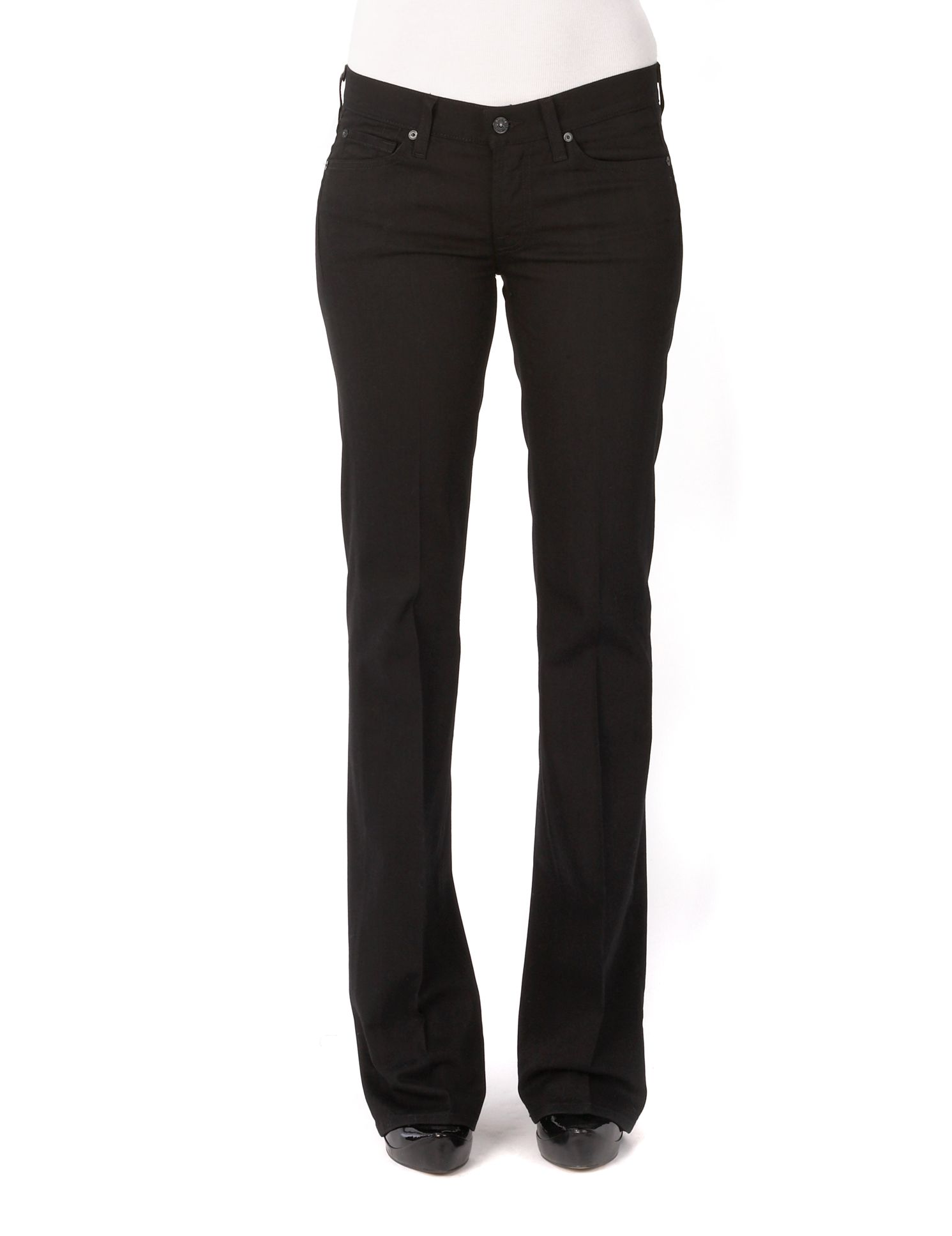 7 For All Mankind Denim The Skinny Mid-rise Jacquard Skinny Jeans in Black