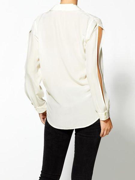 White Silk Blouse Ebay 48