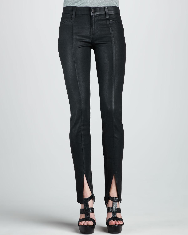 j brand stealth coated midrise skinny jeans in blue. Black Bedroom Furniture Sets. Home Design Ideas