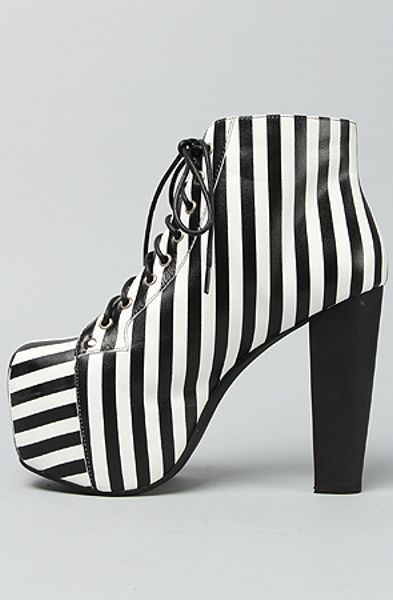 jeffrey cbell the lita shoe in black and white stripe