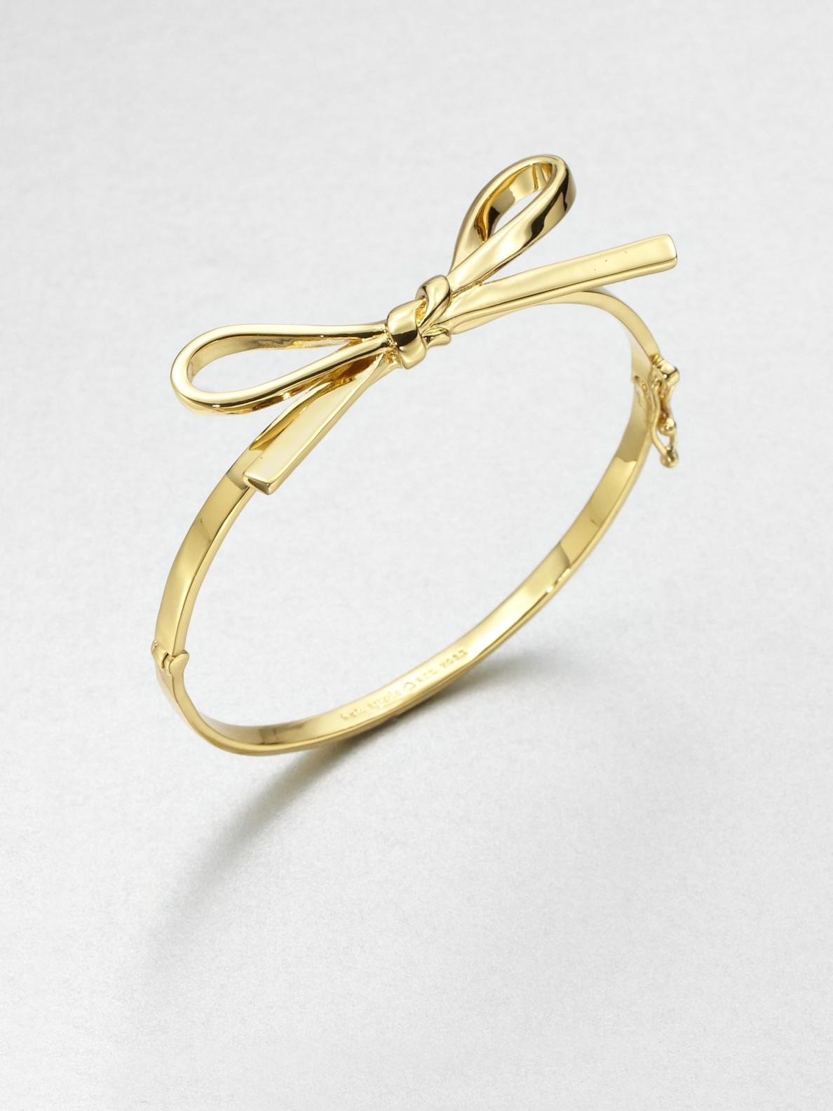 Lyst Kate Spade New York Skinny Bow Bangle Bracelet In
