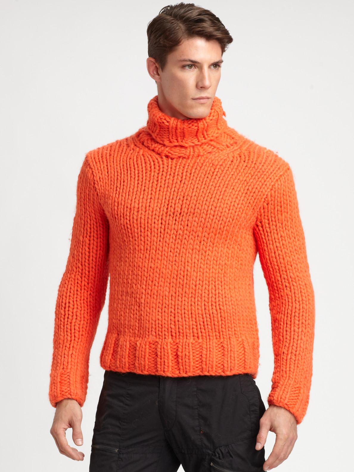 Mens Wool Turtleneck Sweater
