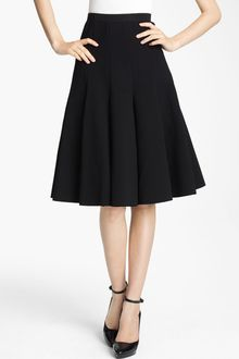 Donna Karan New York Collection Box Pleat Crepe Skirt - Lyst