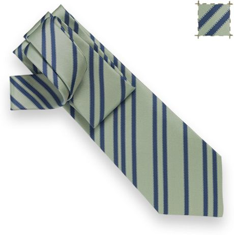 Hermès Random Bolduc Tie  in Green for Men