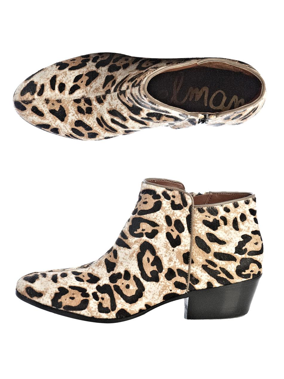Lyst Sam Edelman Petty Leopardprint Boots