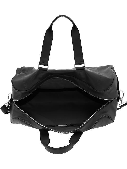 Banana Republic Leather Duffel Bag In Black For Men Lyst