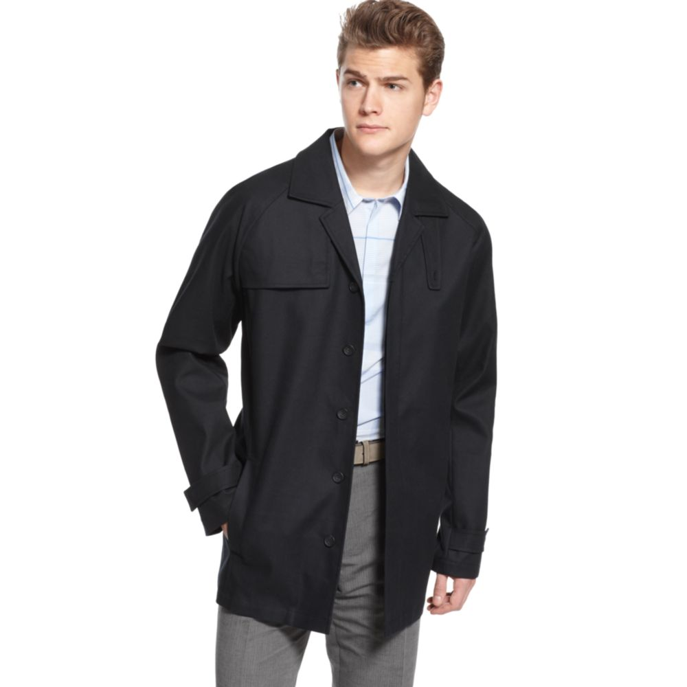 b9809da3ca90 Lyst - Calvin Klein Modern Trench Coat in Black for Men
