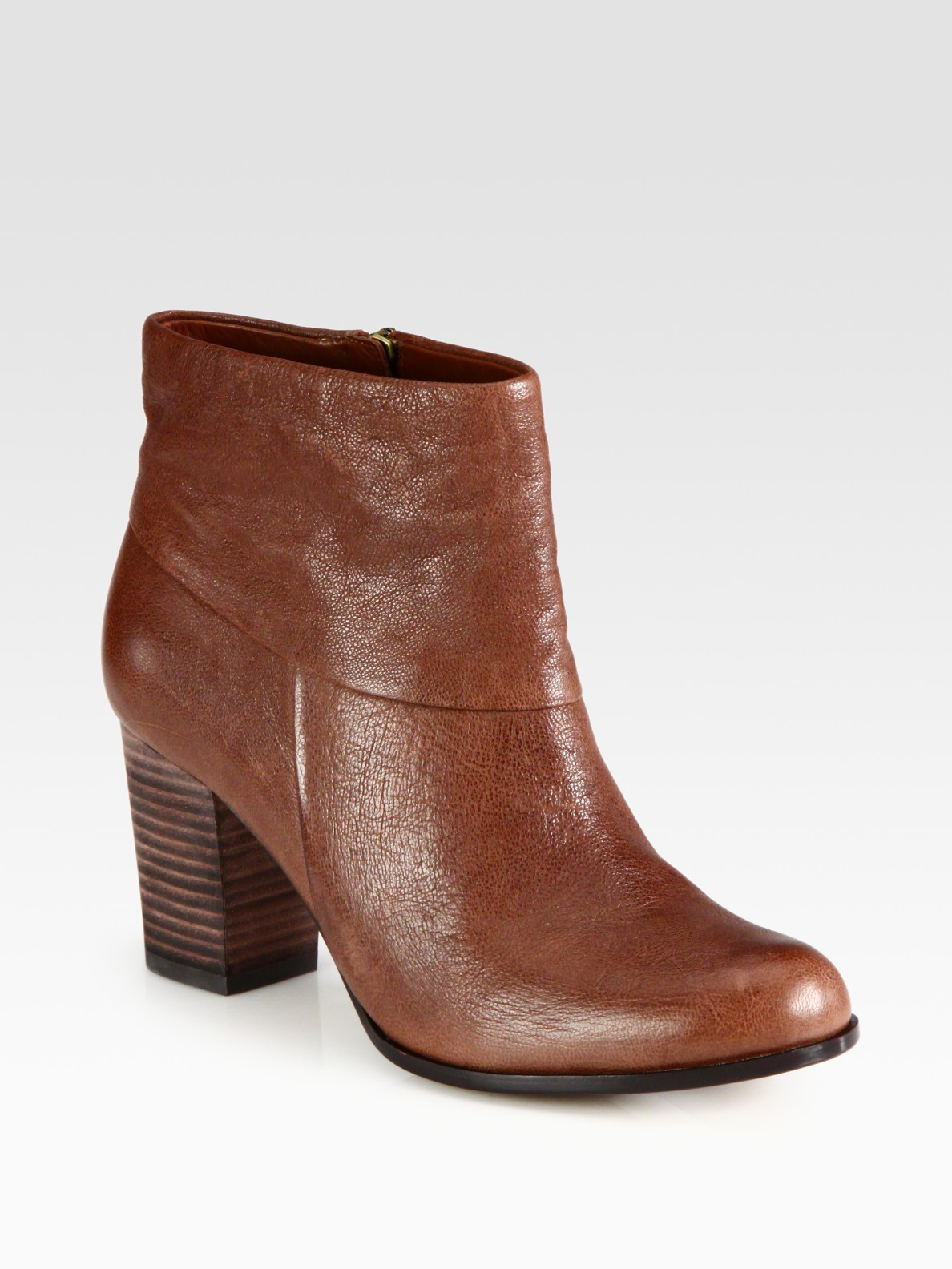 cole haan cassidy leather ankle boots in brown sequoia