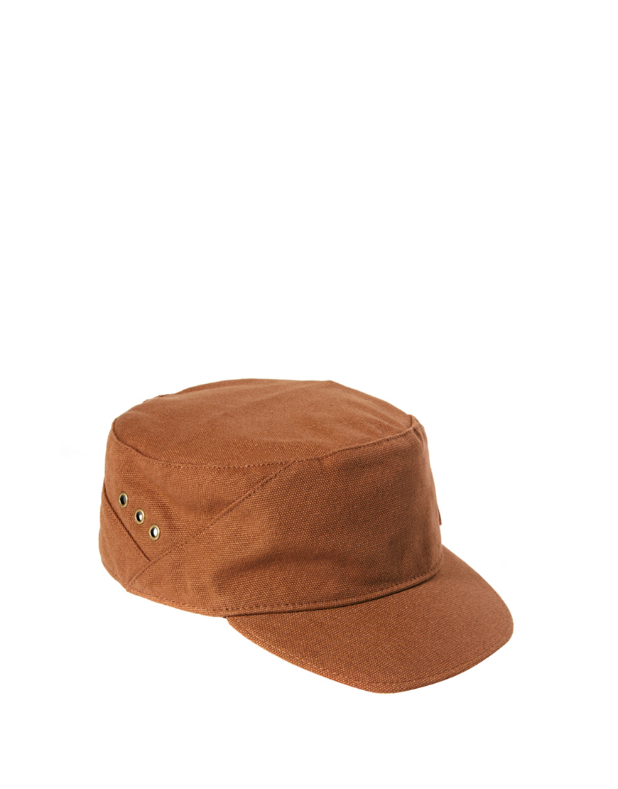 lyst fred perry military cap in brown for men. Black Bedroom Furniture Sets. Home Design Ideas