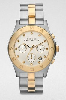 Marc By Marc Jacobs Twotone Stainless Steel Chronograph Watch - Lyst