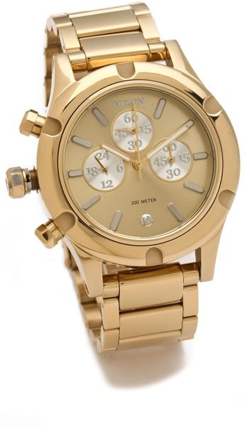 Nixon The Camden Chrono Watch in Gold (champagne)