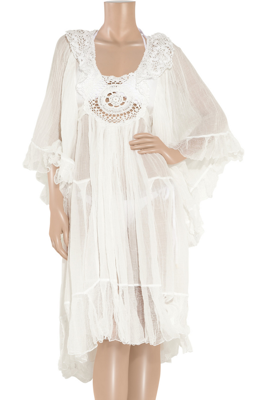 Sestra Moja Angel Cottoncheesecloth Dress In White Lyst