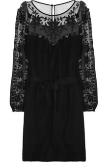 Alice By Temperley Vanessa Embroidered Tulle and Silk Crepe Dress - Lyst