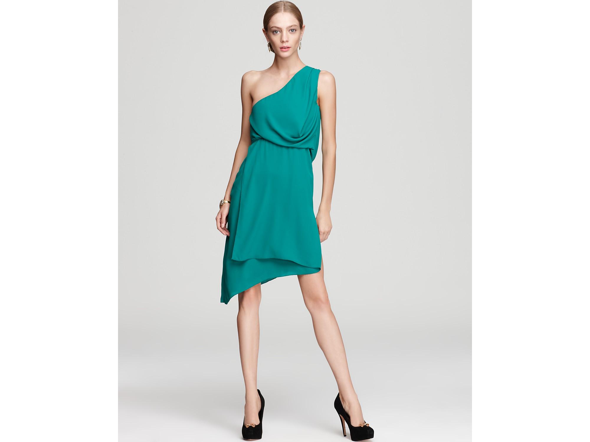 Lyst - Bcbgmaxazria One Shoulder Dress Somara Asymmetric in Blue